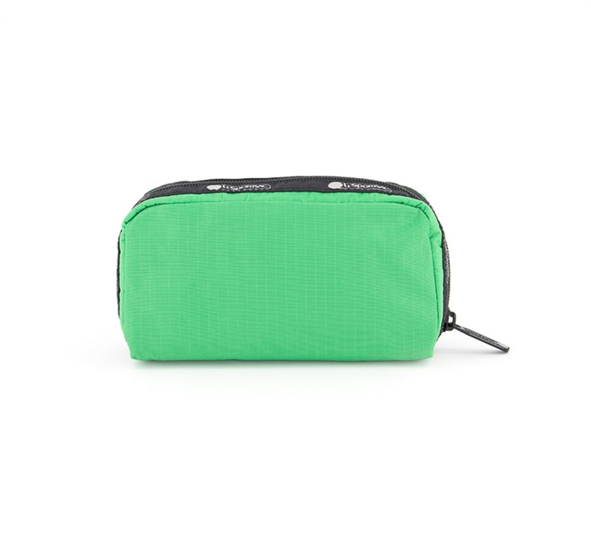 Candace Small Top Zip Cosmetic Case, Kelly Green