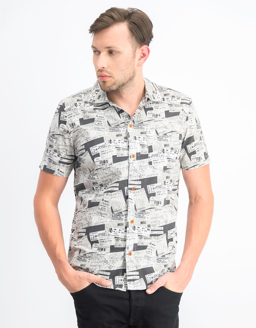 Men's Destination Graphic Shirt, Black Combo