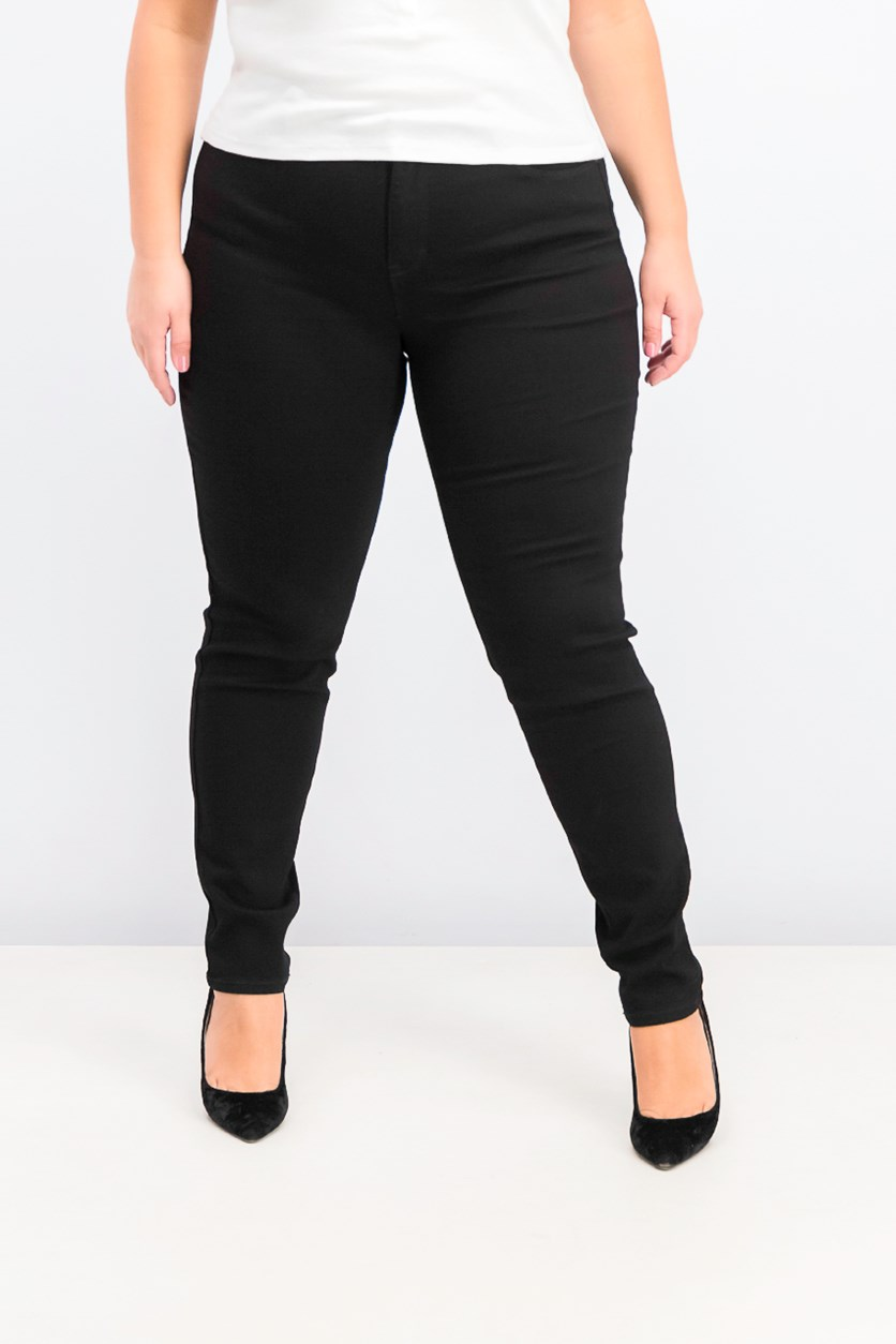 Women's Curvy-Fit Skinny Jeans, Black