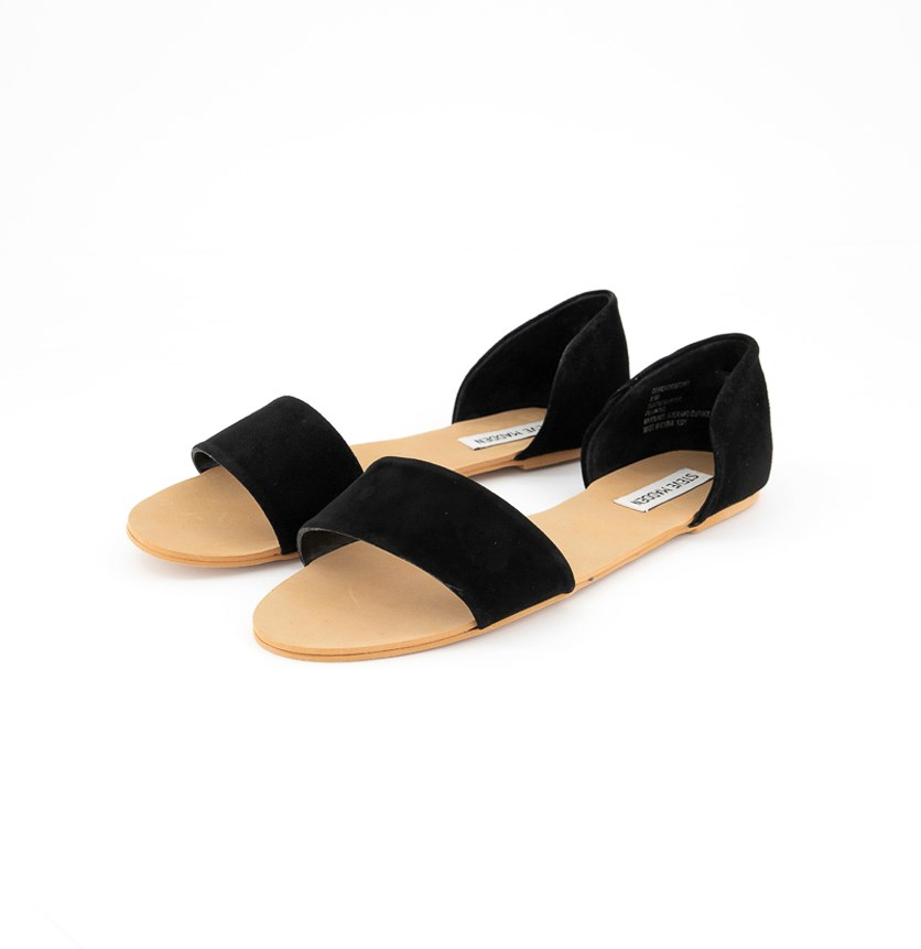 Women's  Slip-on Flat Sandals, Black