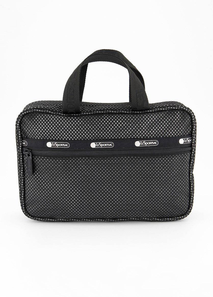 Candace Cosmetic Carrier, Black Mesh
