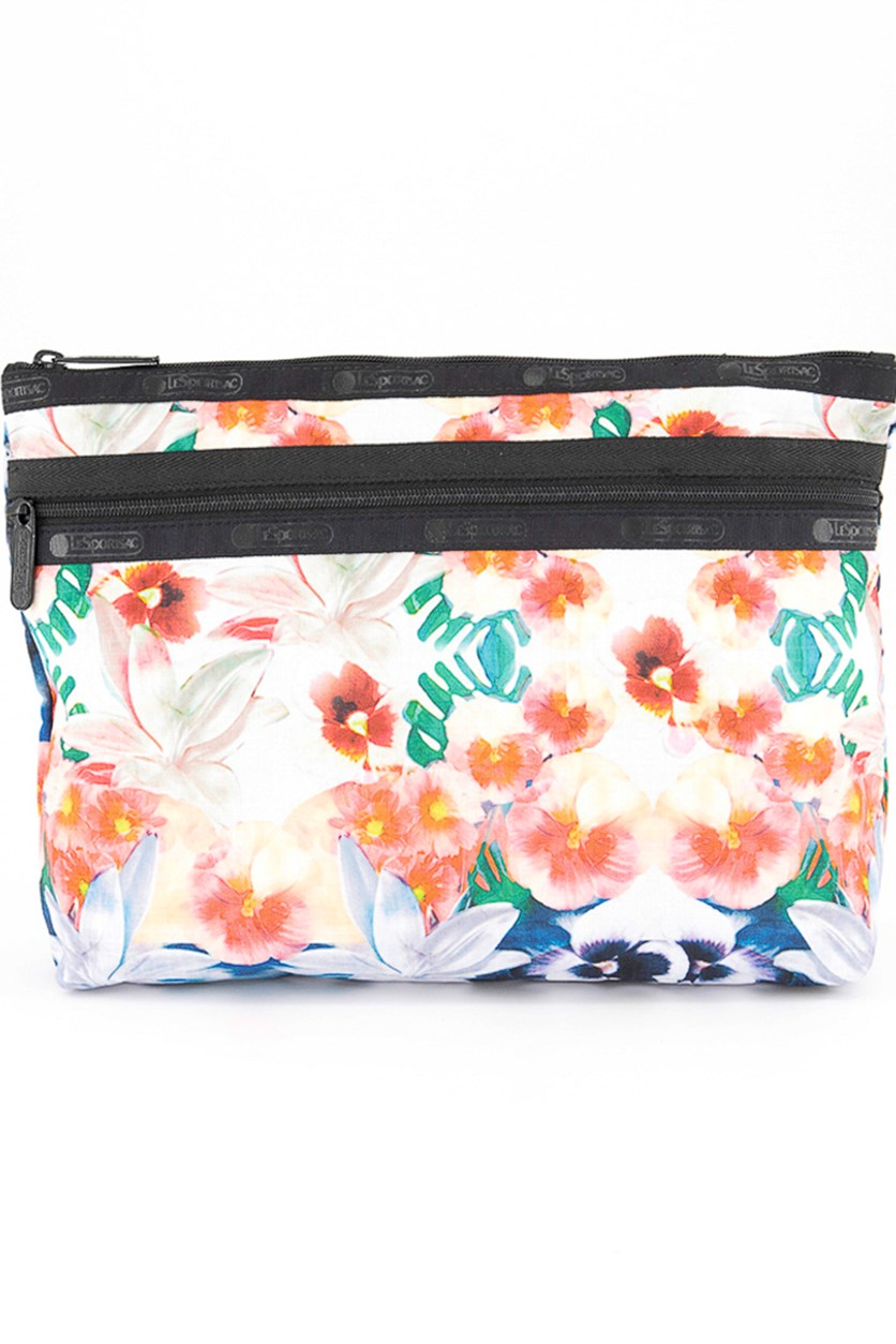 Women's Large Floral Cosmetic Case, Kaleidoscope
