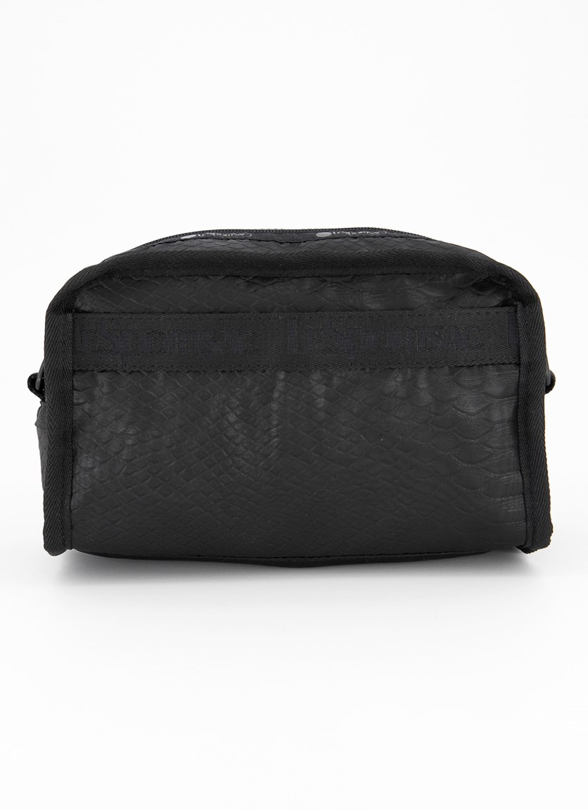 Gabrielle Box Cosmetic Case, Black Phyton