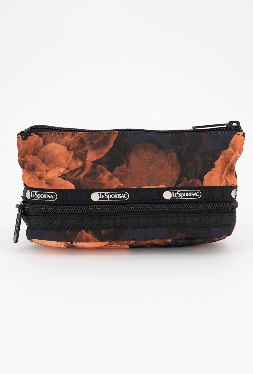 Collette Small Expandable Cosmetic Case, Dark Floral