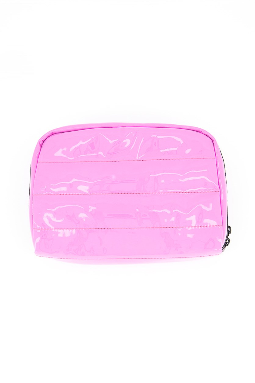 Women's Candace Large Top Zip Cosmetic Case, Pink