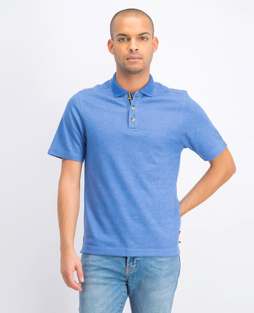 Men's Inter Lock Polo Shirt, Blue