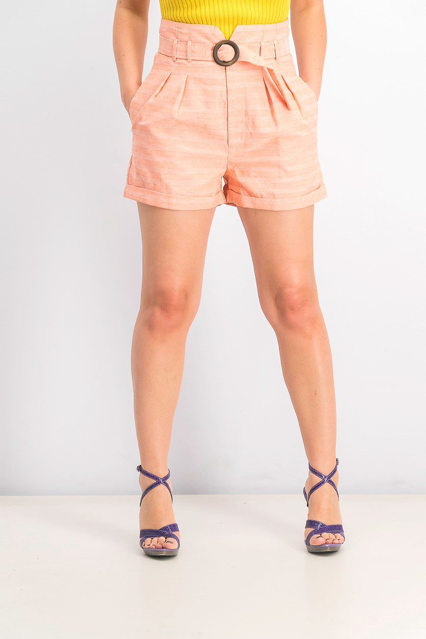 Women's Platinum Petite Cargo Shorts, Orange