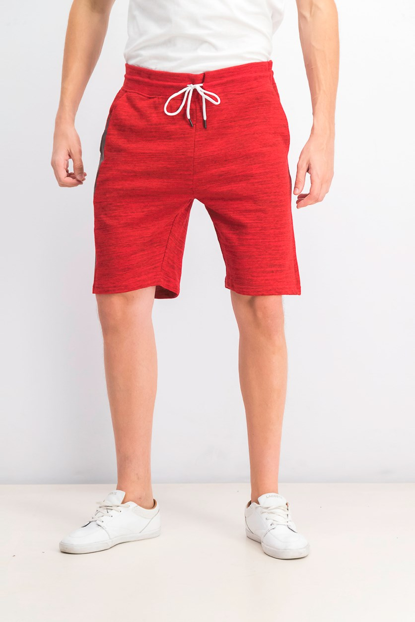 Mens Space Dye Print Short, Red