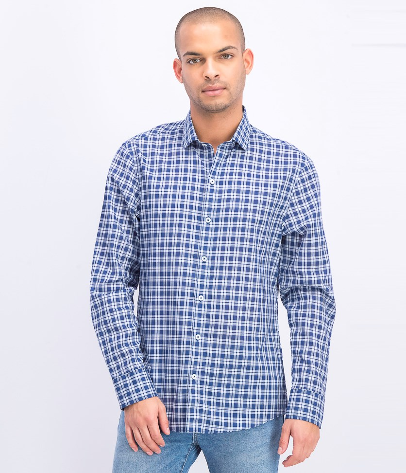 Men's Regular Fit Shirt, Speer Indigo
