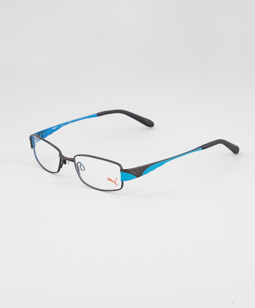 Unisex Frame Eyelasses, Dark Brown/Blue