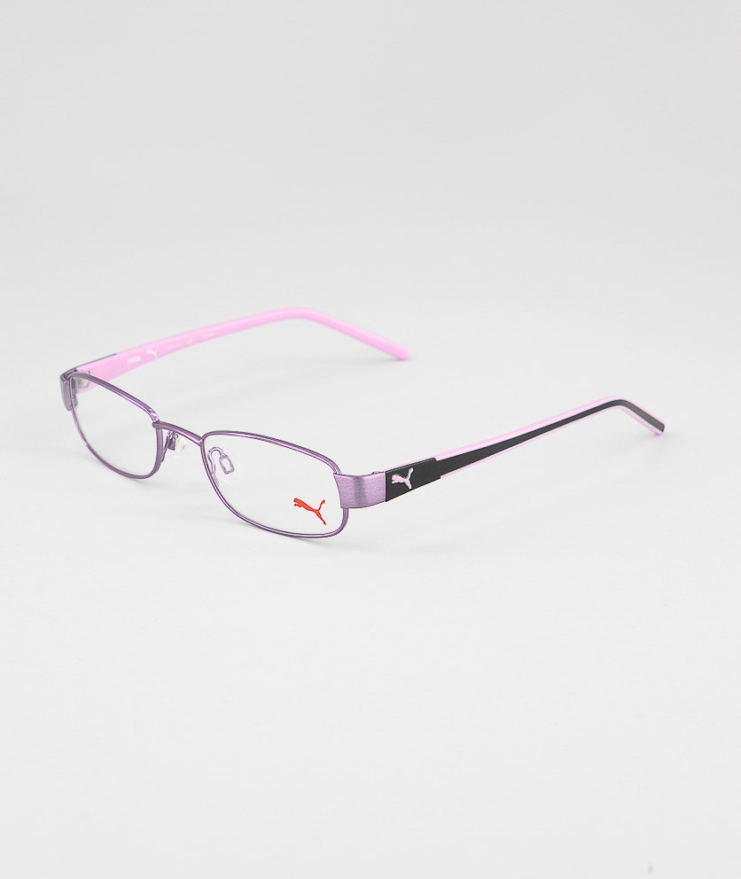 Kid's Girl PU15340 Full Rim Eyeglasses Frame, Pink/Purple
