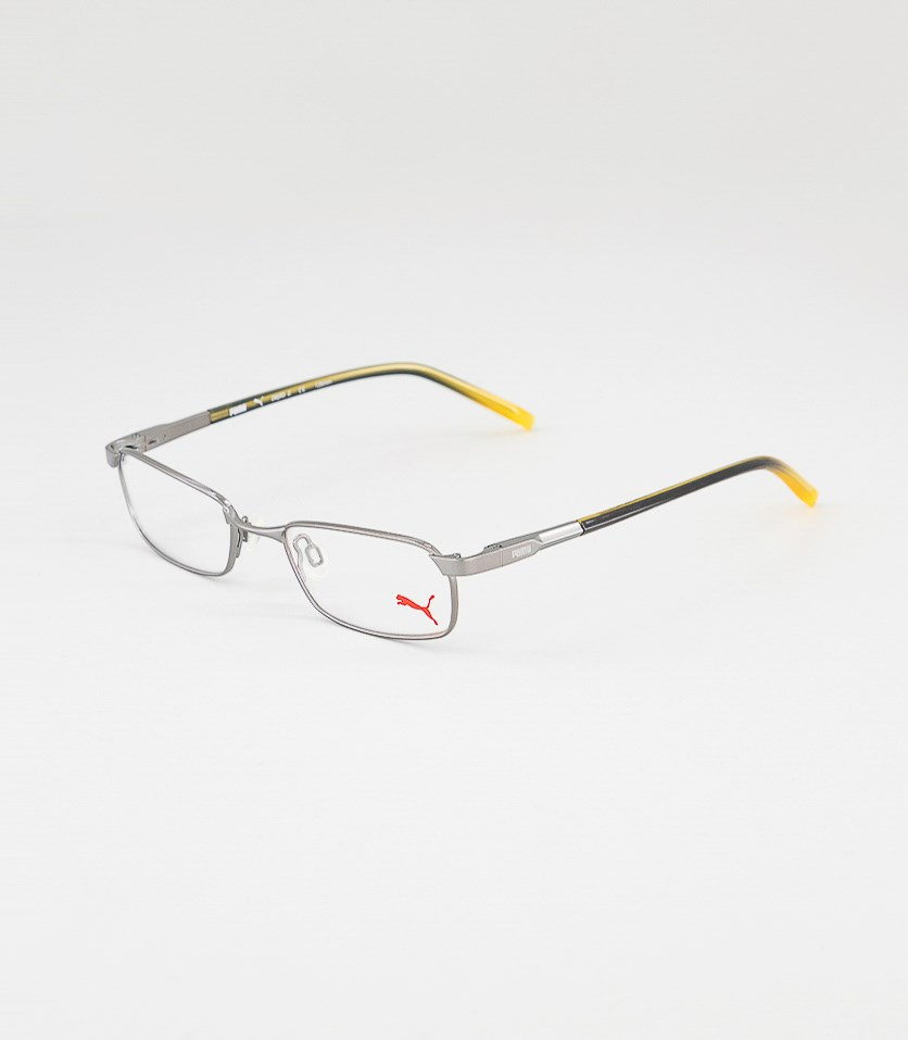 Kid's Girl PU15353 Full Rim Eyeglasses Frame, Silver/Yellow