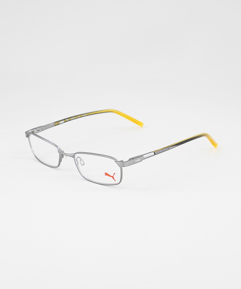 Women's PU15353 Full Rim Eyeglasses Frame, Grey/Yellow