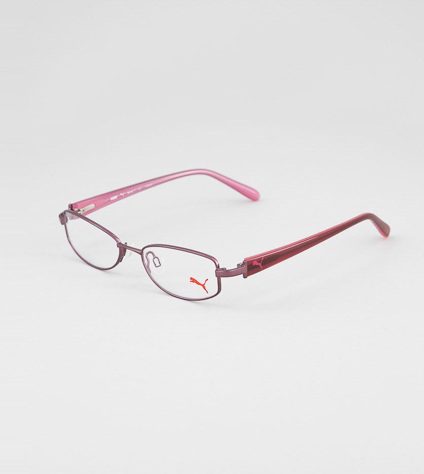 Kid's Girl's PU15356 Full Rim Eyeglasses Frame, Pink
