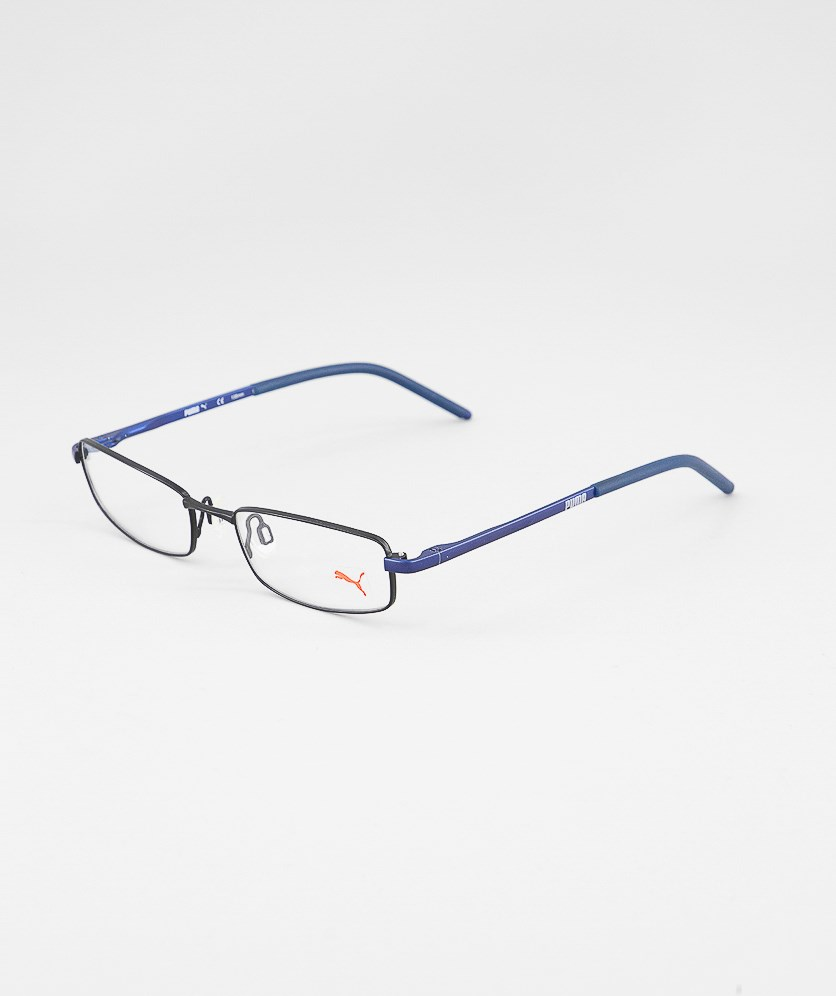 Kid's Boys PU15382 Full Rim Eyeglasses Frame, Blue/Black