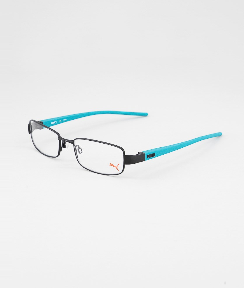 Men's PU15388 Full Rim Eyeglasses Frame, Black/Mint