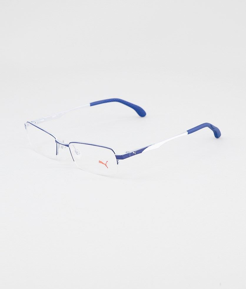 Kid's Boys PU15418 Half Rim Eyeglasses Frame, Blue