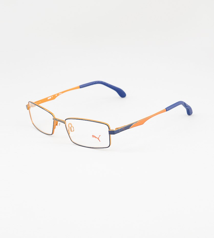 Unisex Kids Frame Eyeglasses, Orange/Blue