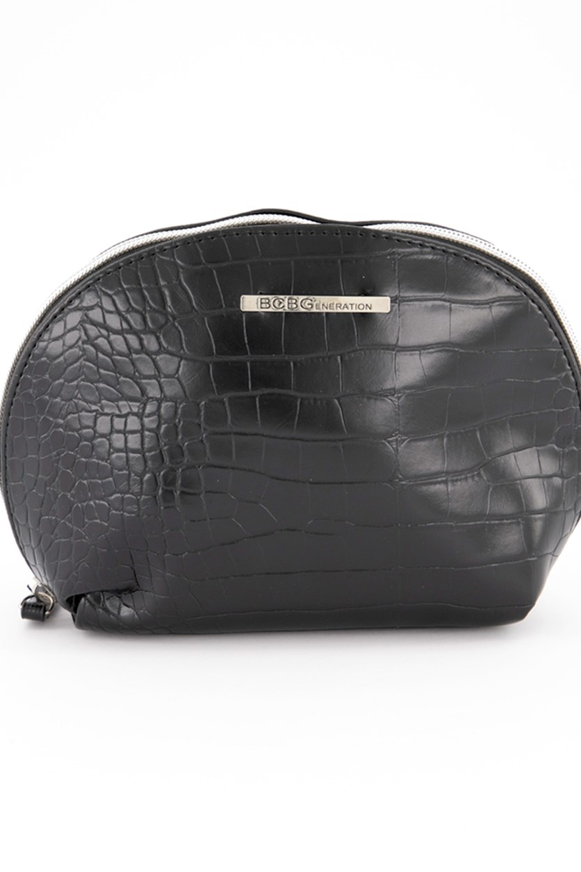 Isabella Clamshell Pouch, Black