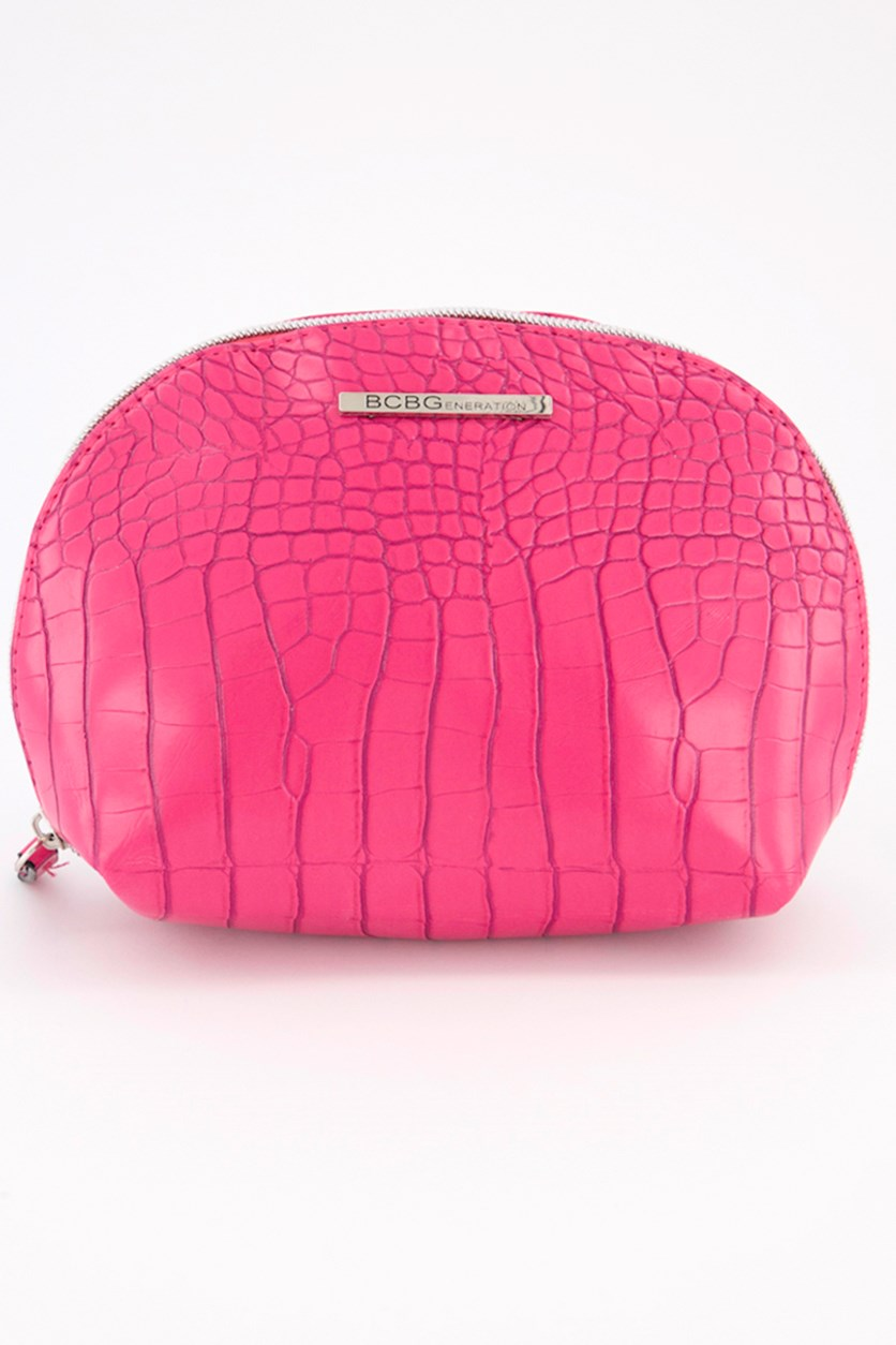 Isabella Clamshell Pouch, Pink