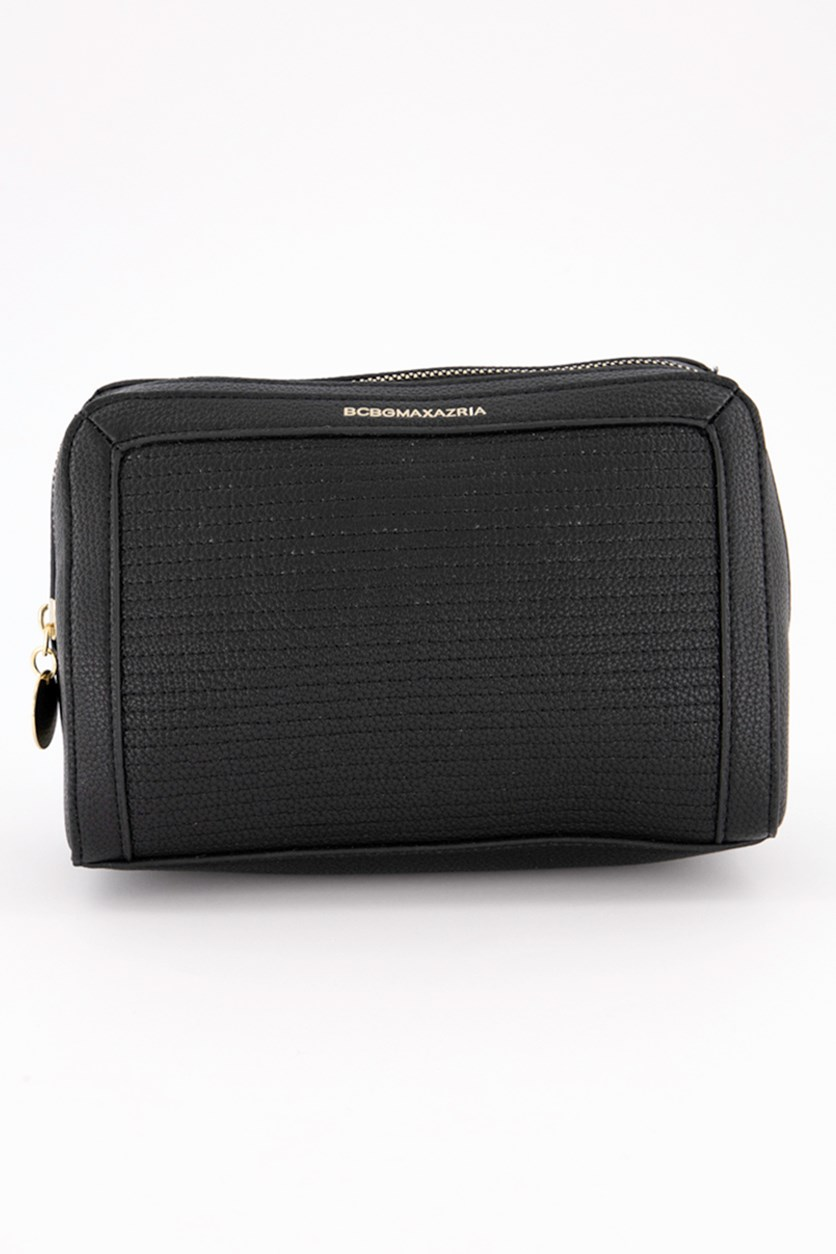 Women's Synthetic Leather Clutches, Black