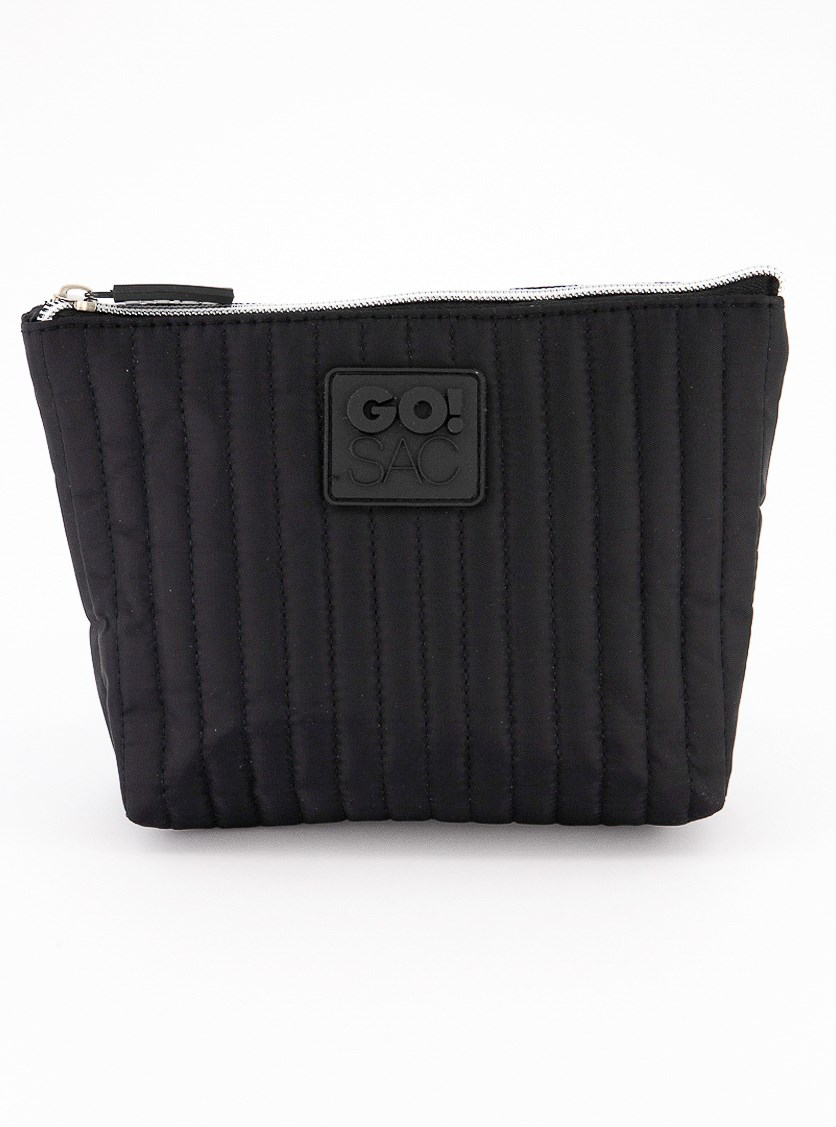 Rory Top Zip Pouch, Black