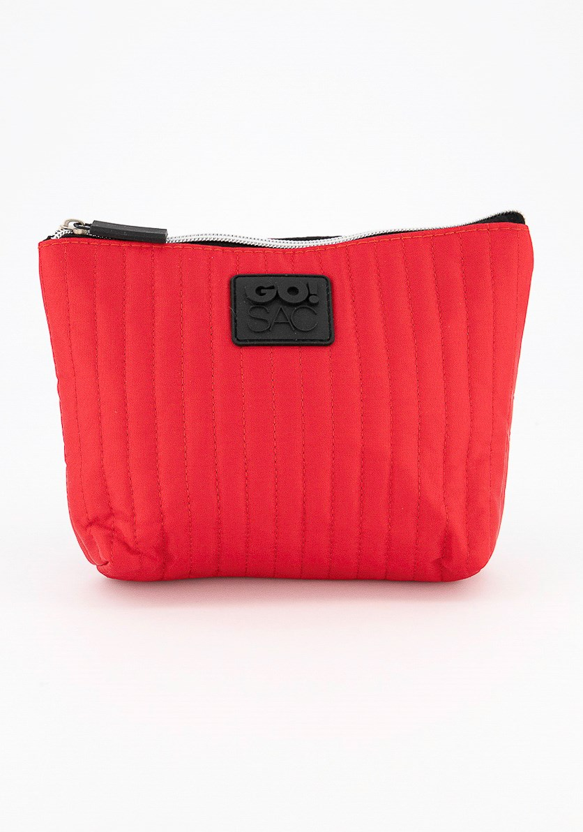 Rory Top Zip Pouch, Red