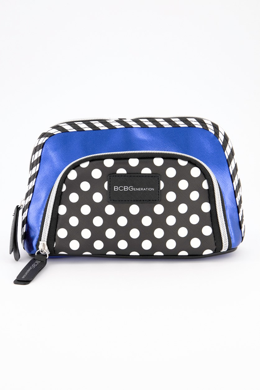 Double Pouch Cosmetic, Blue
