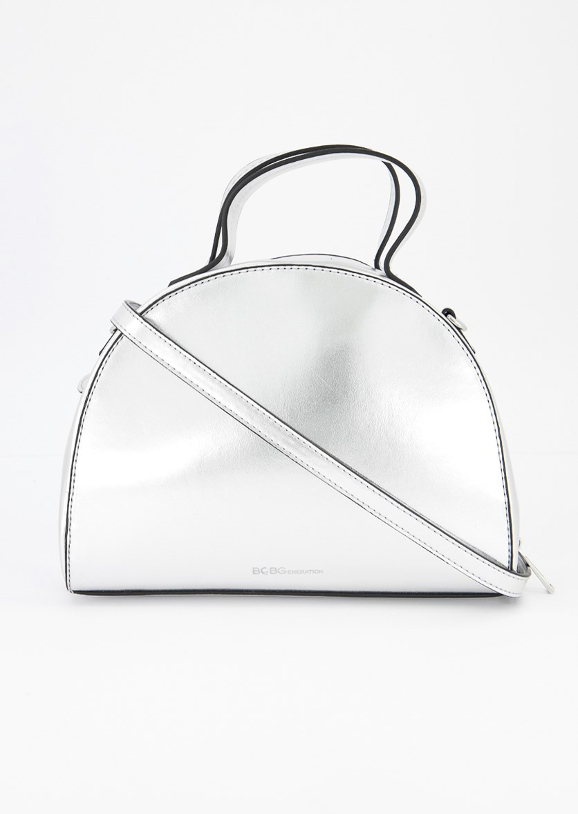 Women's Lola Satchel Bag, Silver