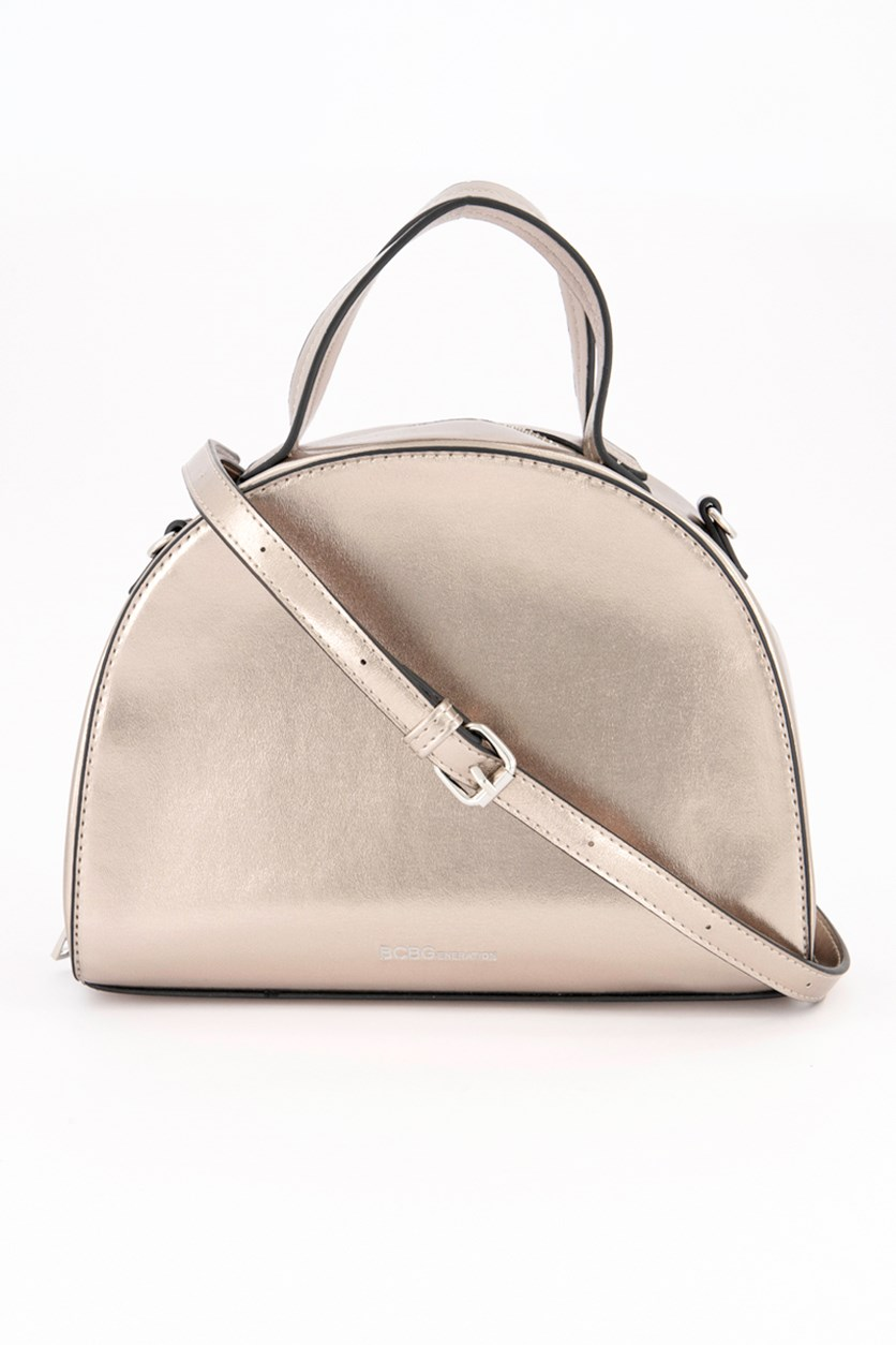 Women's Lola Satchel, Metallic Taupe