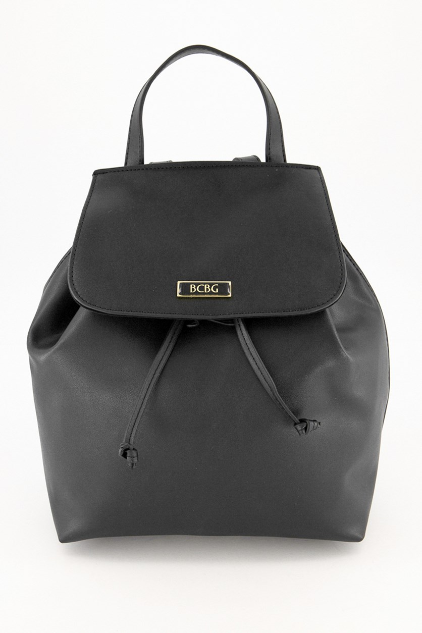 Women's Plain Backpack, Black