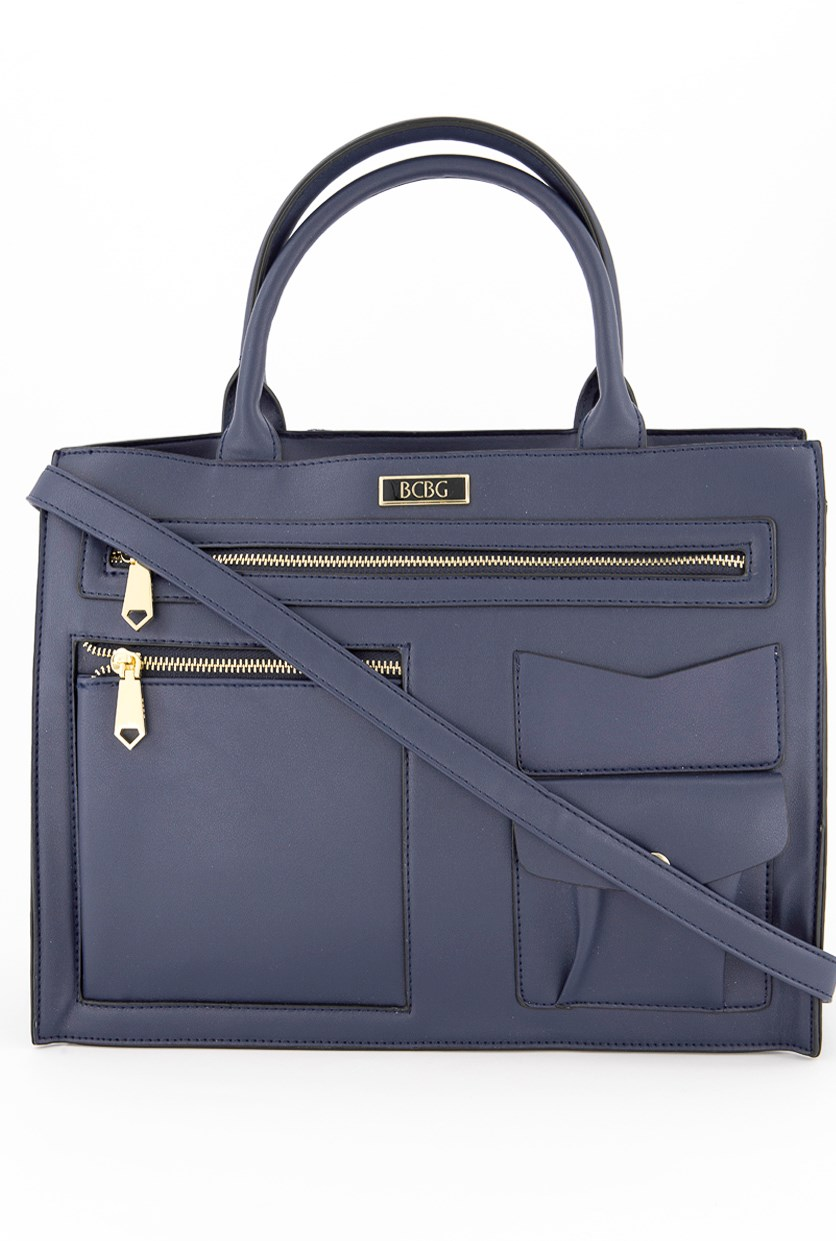 Women's Harper Satchel Bag, Navy