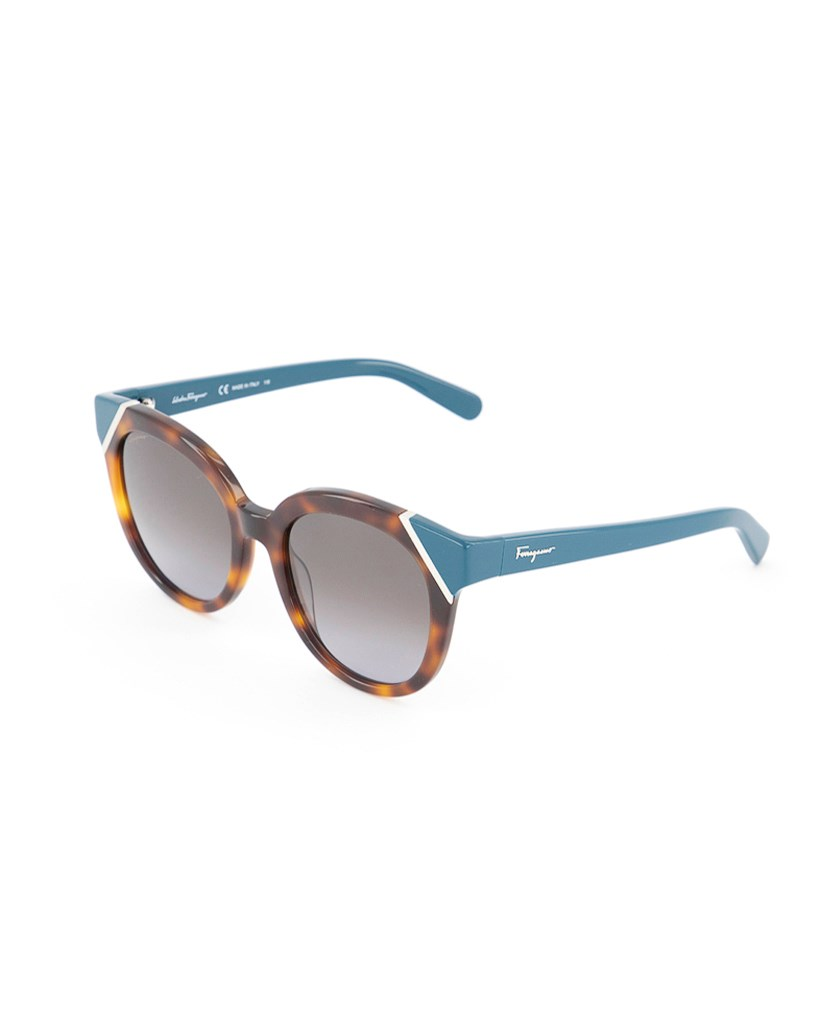 Women's Cat Eye Sunglass, Havana Green