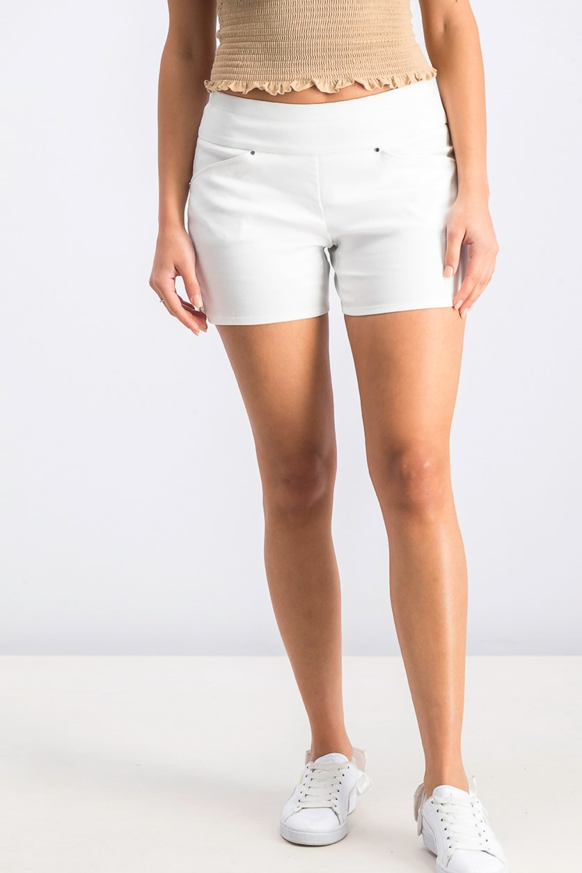 Women's Petite Pull On Core Short, Bright White