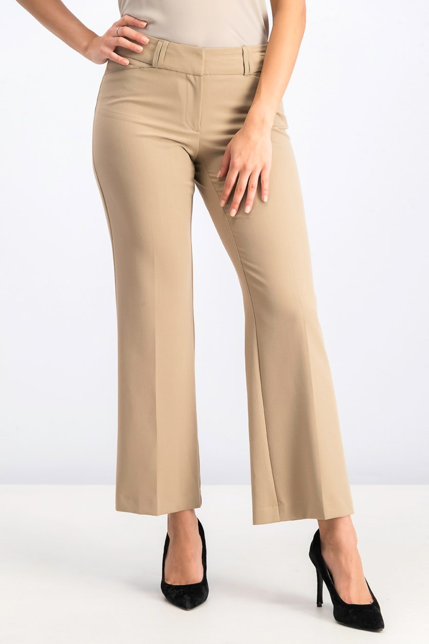 Women's Petite Curvy Bootcut Pants, Warm Ginger