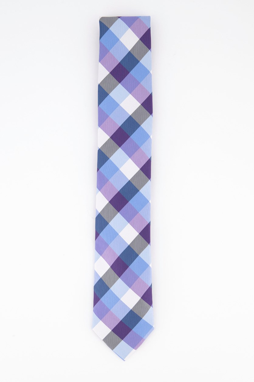 Men's Pacific Plaid Tie, Purple Combo