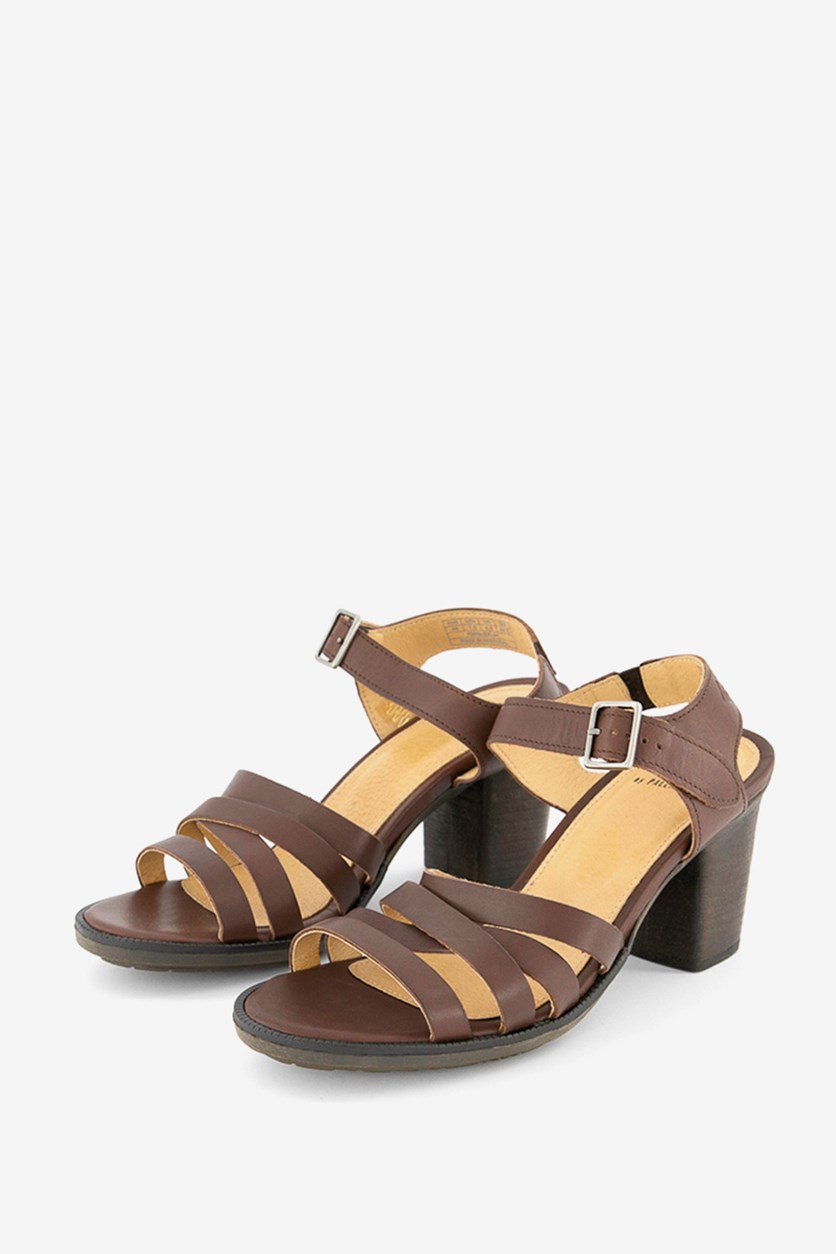Women's Adjustable Buckle Sandals, Brown