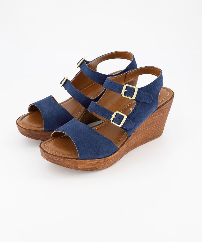 Women's Ani-Italy Wedge Sandals, Navy Saude