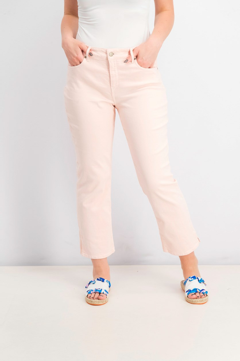 Women's Marilyn Straight Ankle Jeans, Pink Dusk