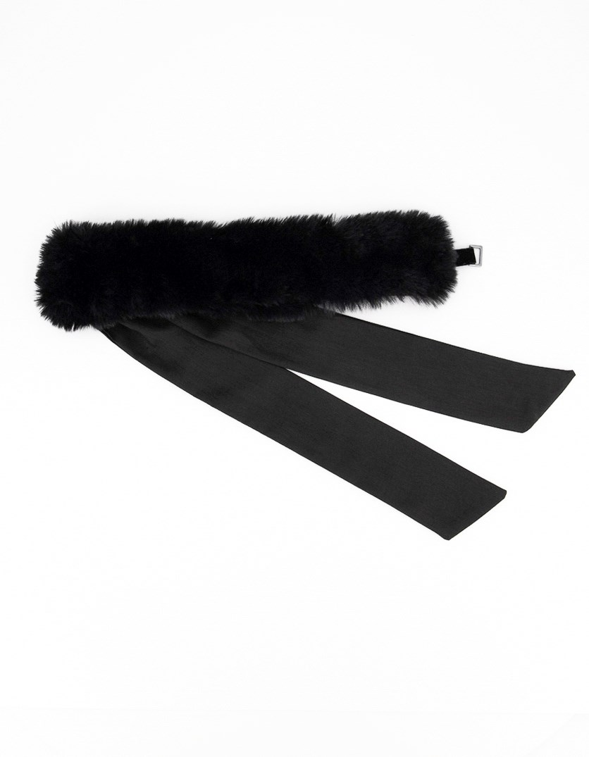 Women's Tie Headband, Black