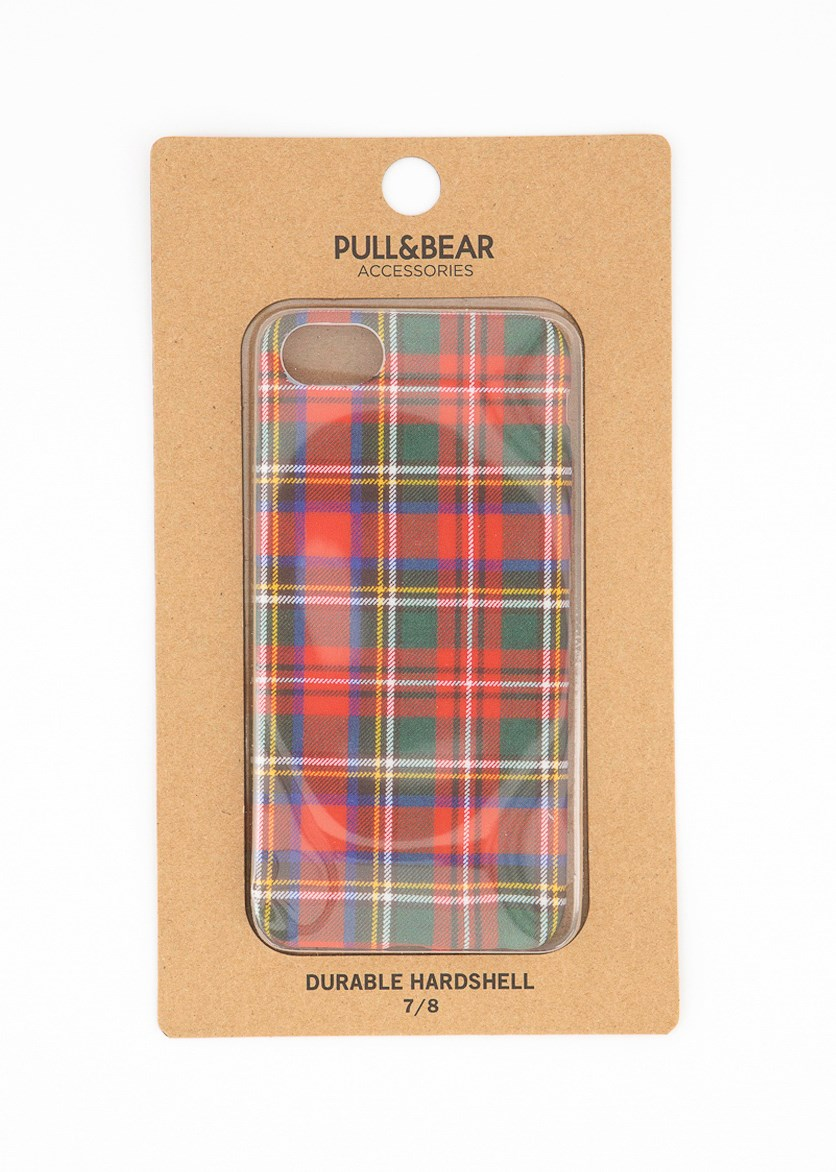 Durable Hardshell Plaid Iphone 7/8 Case, Red Combo