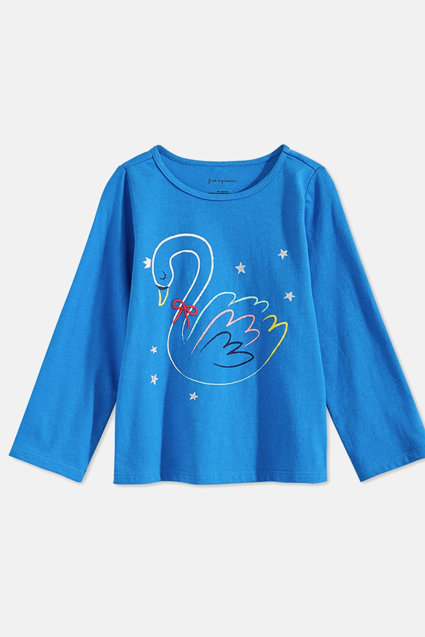 Little Girl's Graphic Printed Tee, Blue