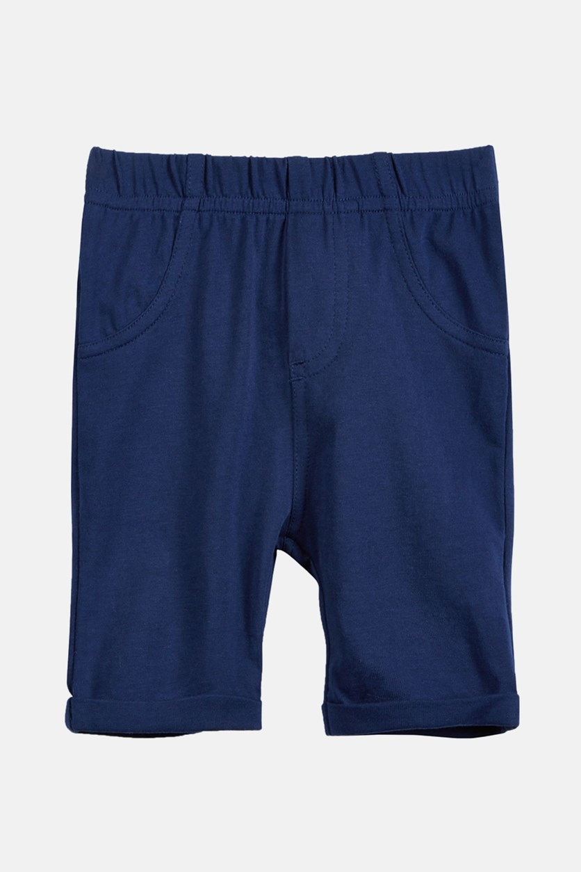 Baby Girls Pull-On Bermuda Shorts, Medieval Blue