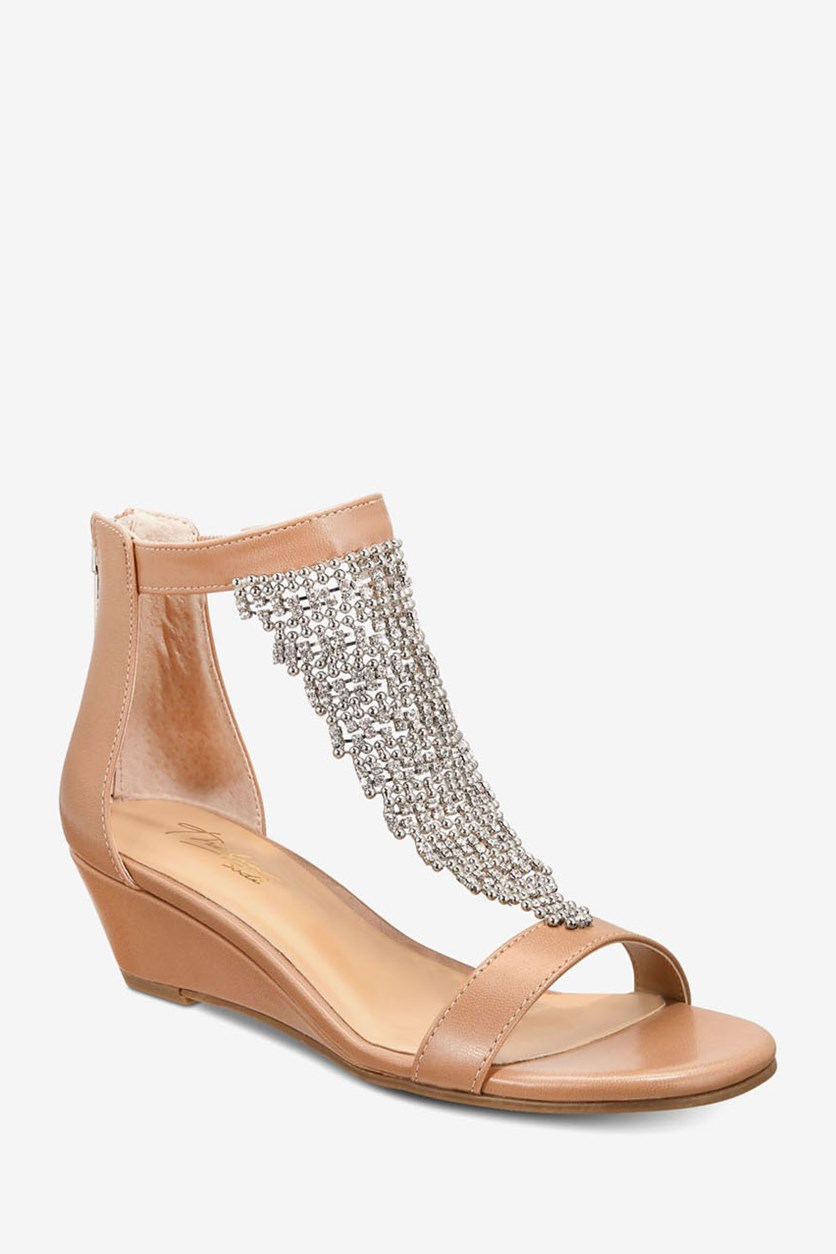 Women's Tacey Wedge Sandals, Nude