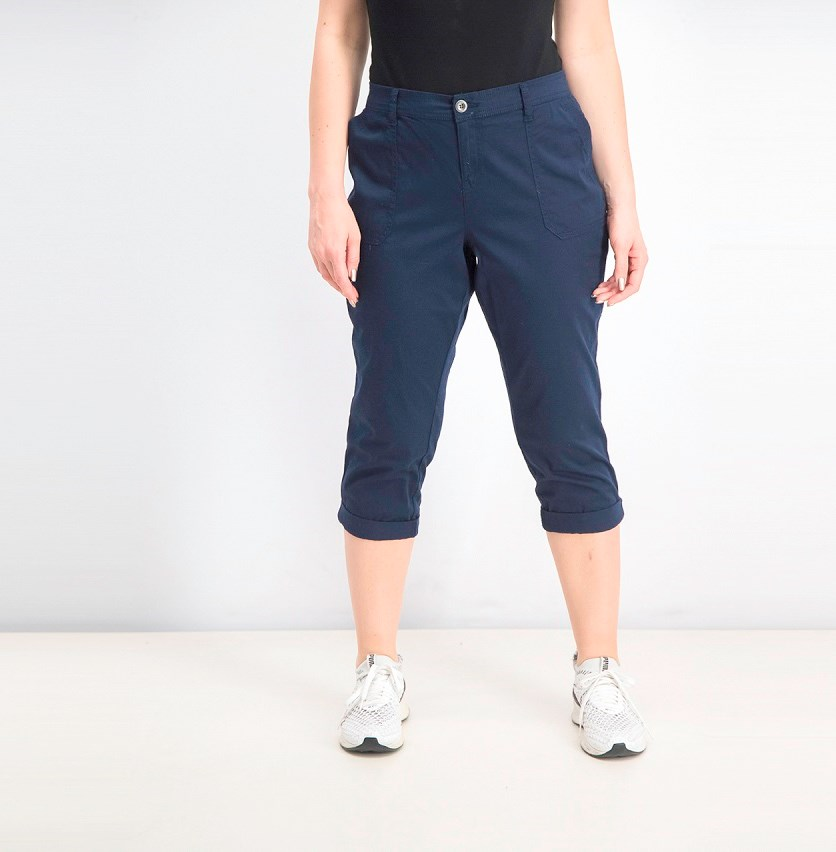 Women's Utility-Pocket Capri Pants, Intrepid Blue