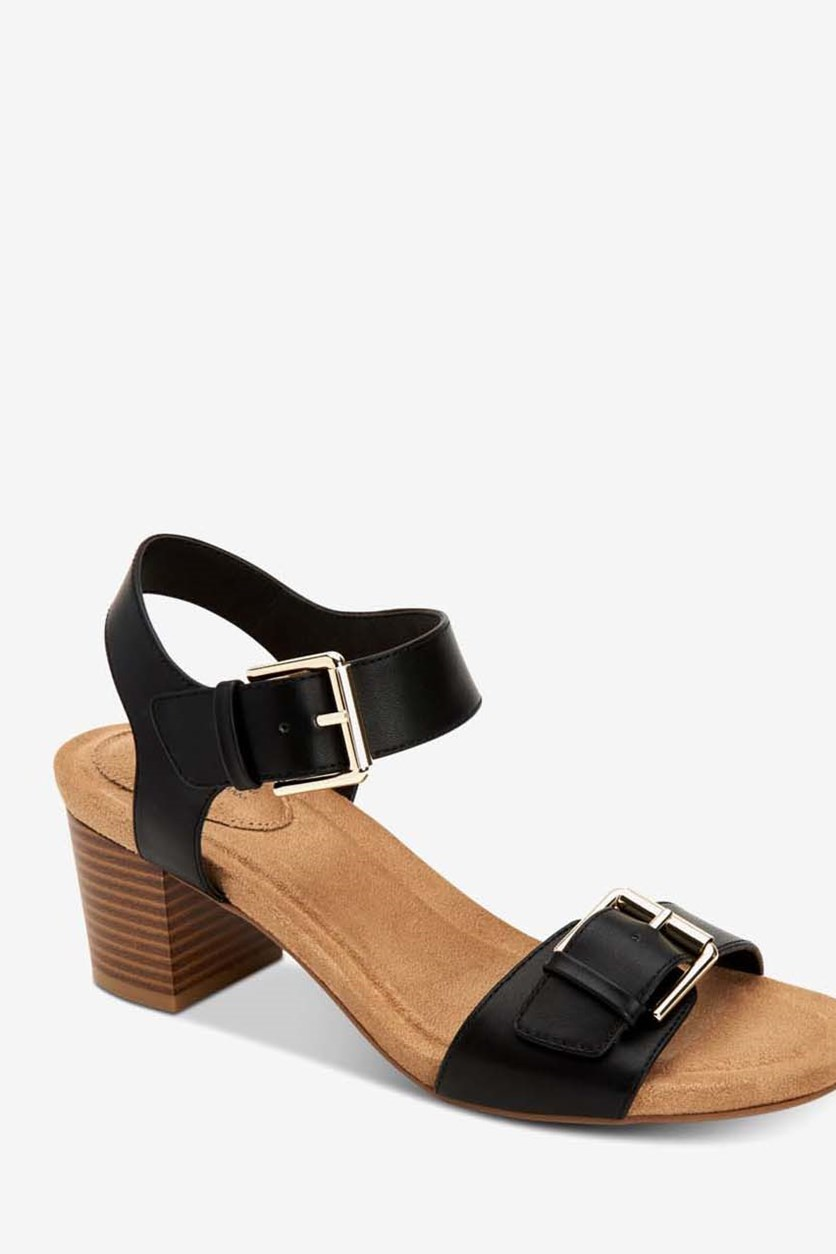 Womens Montana Open Toe Casual Ankle Strap Sandals, Black