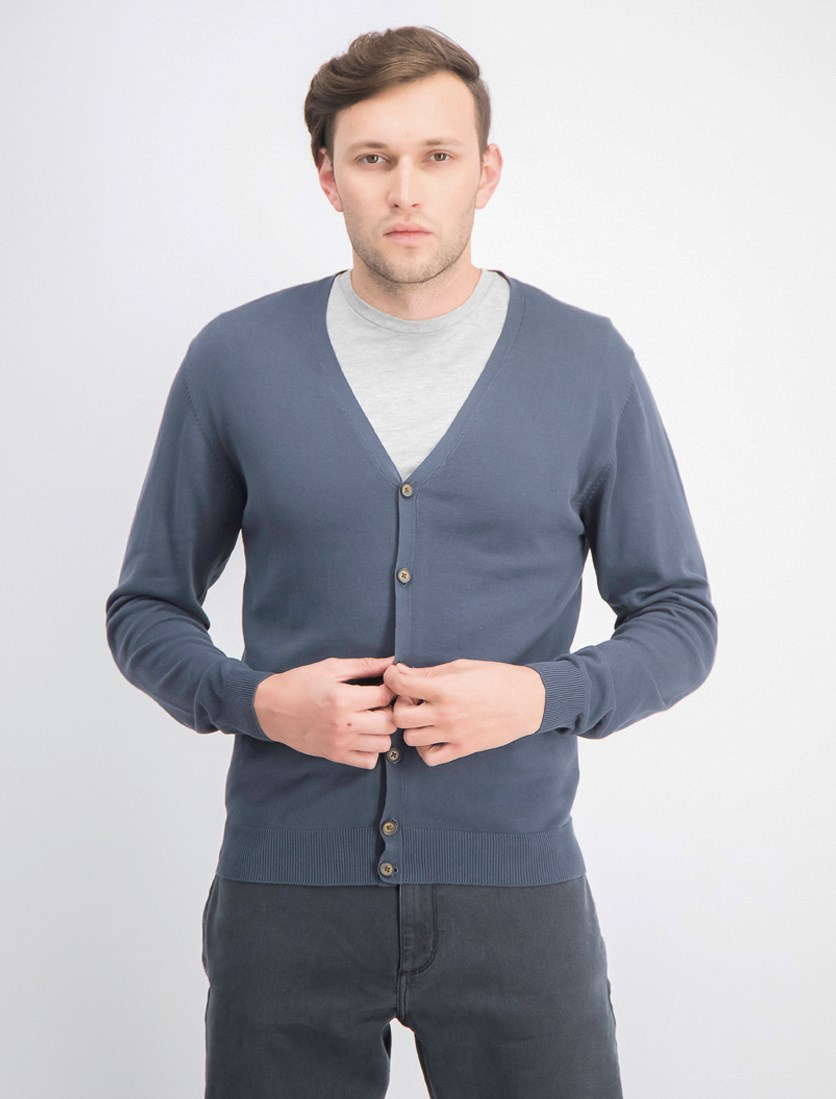 Men's V-Neck Sweater, Grey