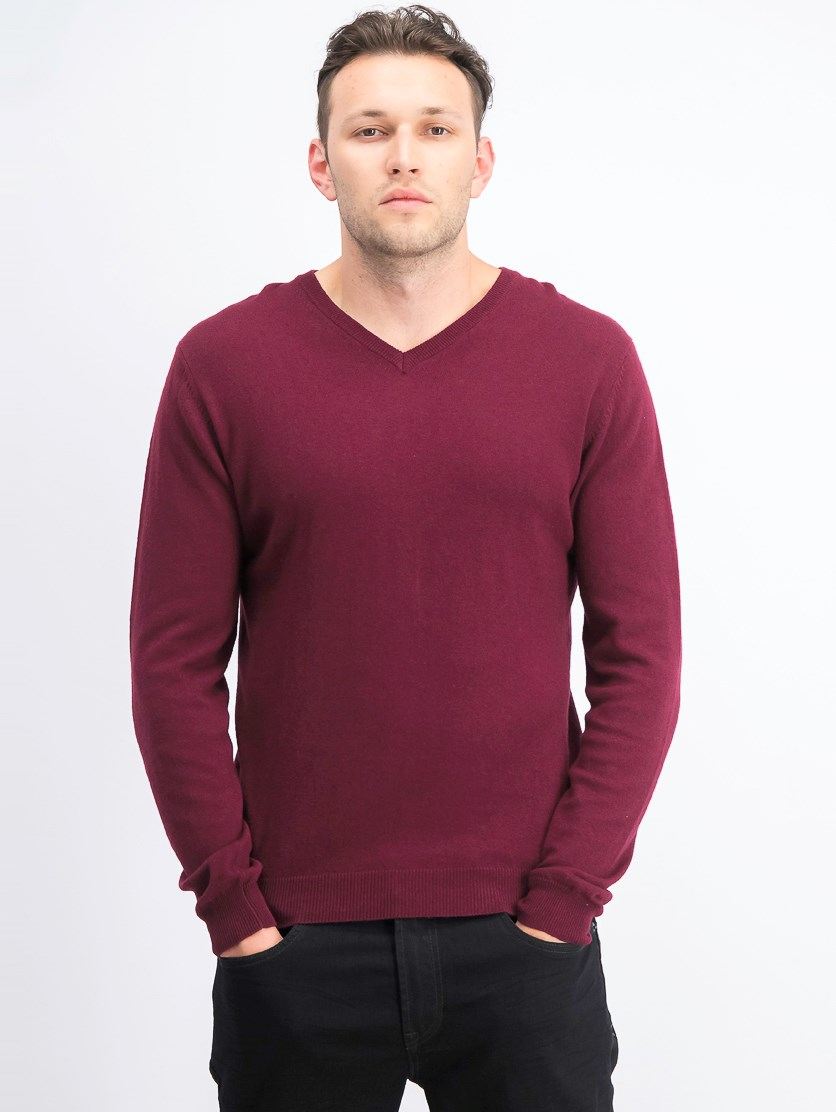 Mens Pull Over Sweat Shirt, Maroon