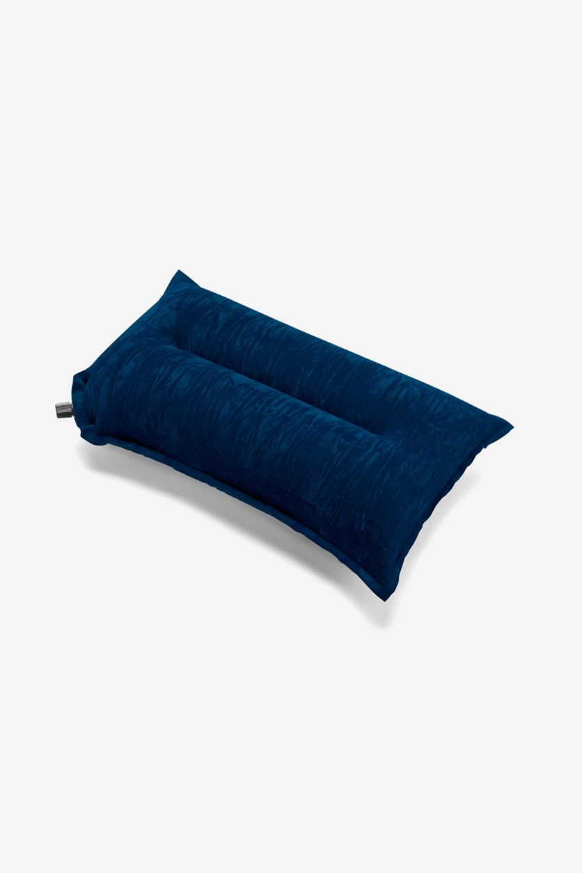 Inflatable Travel Pillow, Blue