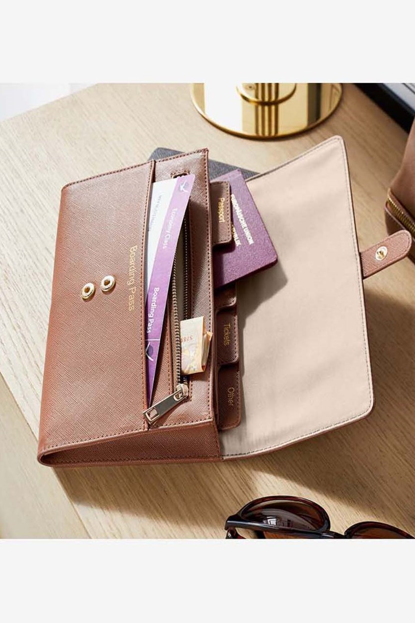 Travel Organizer For Documents, Brown